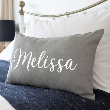Personalised Name On Cushion